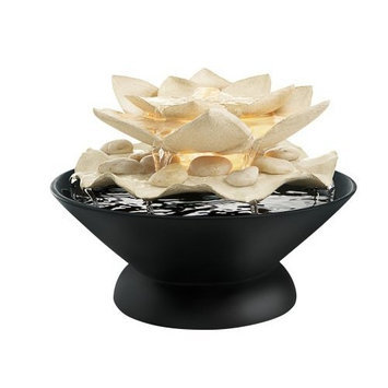 Homedics WFL-MARI Envirascape Mariposa Illuminated Relaxation Fountain with Natural Stones