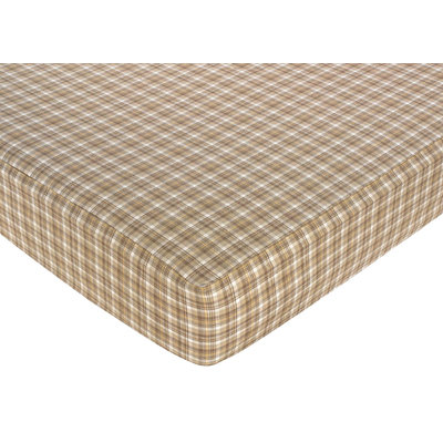Jo Jo Designs Sweet Jojo Designs Chocolate Teddy Bear Fitted Baby Crib Sheet Plaid