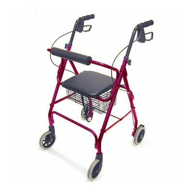 Mabis Briggs Healthcare Ultra Lightweight Aluminum Rollator with 6'' Wheels