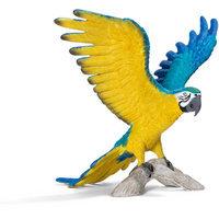 Schleich Blue-and-Yellow Macaw Figurine