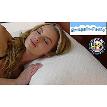 Snuggle-Pedic Bamboo Shredded Memory Foam Pillow with Kool-Flow Micro-Vented Cover - King [King]