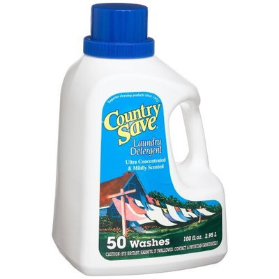 Country Save Liquid Laundry Detergent 100-Load 100 Ounce Bottles (Pack of 4)