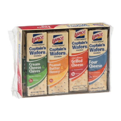 Lance Captain's Wafers Crackers Variety Pack - 8 CT