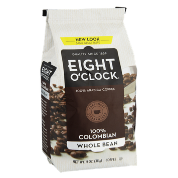 Eight O'Clock 100% Colombian Whole Bean Coffee