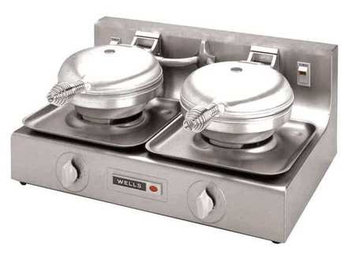 WELLS MANUFACTURING WB-WB-2E Waffle Baker, Double,1800 Watt
