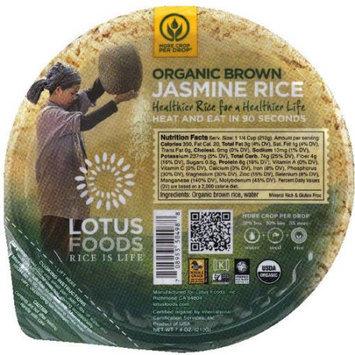 Lotus Foods Organic Brown Jasmine Rice, 7.4 oz, (Pack of 6)