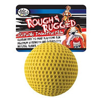Four Paws Rough and Rugged 2.75 Inch Golf Ball with Bell Dog Chew Toy