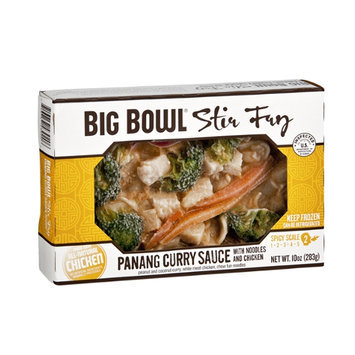 Big Bowl Panang Curry Sauce with Noodles and Chicken Stir Fry