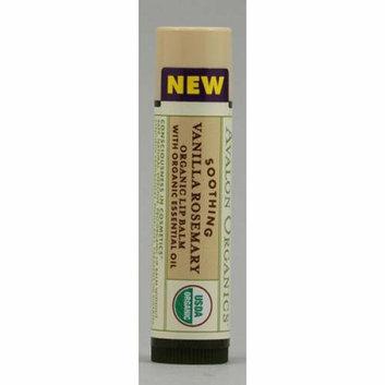 Avalon Organics Soothing Organic Rosemary Lip Balm Vanilla 0.15 oz Case of 24
