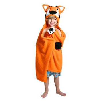 Zoocchini 11109 Travis the Tiger Hooded Towel - 50 x 22 in.