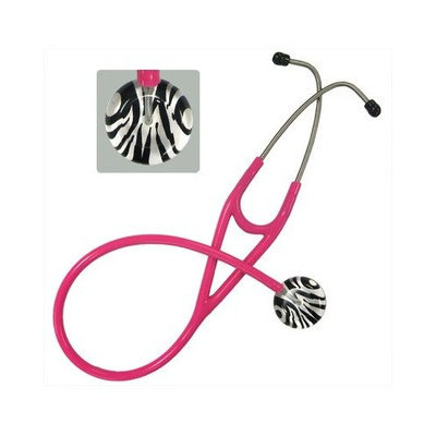 Ultrascope Adult Stethoscope with Light Green Tubing, Zebra Print