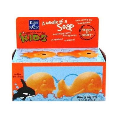 Kiss My Face Kids Whale Soap 2's 3.5 oz. Orange-U-Smart (Case of 6)