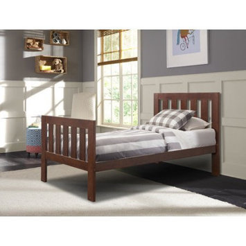 Stork Craft Kids Bed: Canwood Lakecrest Bed - Espresso (Twin), Red