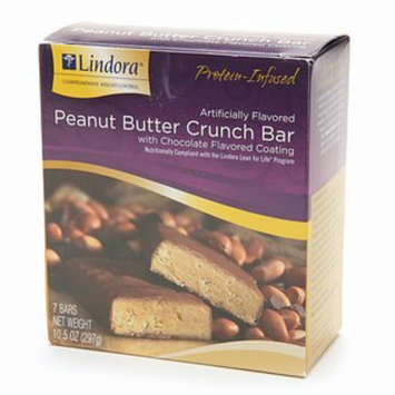 Lindora Peanut Butter Crunch Bar with Chocolate Flavored Coating