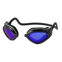 CliC Adjustable Front Connect Universal Sport Goggle, Smaller Size, Black Frame with Blue Lens