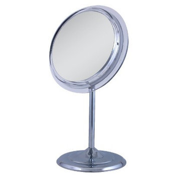 Zadro Surround Light Chrome Lighted Flourescent Single Sided Make Up Mirror