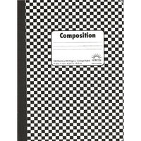 Norcom Composition Book, 9.75 x 7.5 Inches, College Ruled, Assorted Colors, 100 Sheets (46016-18)