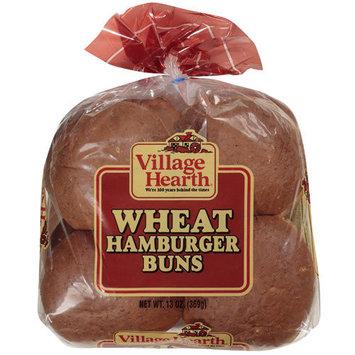Village Hearth Wheat Hamburger Buns, 13 oz