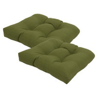 Threshold 2-Piece Outdoor Tufted Seat Cushion Set - Green