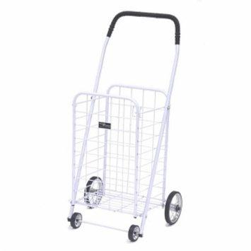 Easy Wheels Mini Shopping Cart, White, 1 ea