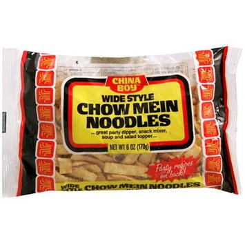 China Boy Chow Mein Noodles, Wide, 6-Ounce Bags (Pack of 12)
