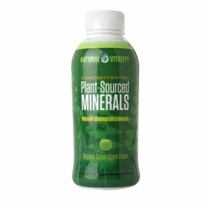 Natural Vitality Plant-Sourced Minerals Liquid, Organic Green Apple, 16 fl oz