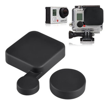 Insten INSTEN Protective Replacement Camera Lens Cap+Housing Case Lens Protector Cover for GoPro Hero 3+ Plus