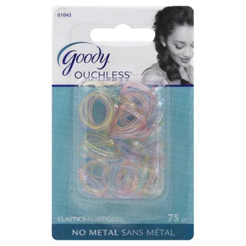Goody Products Inc. Ouchless Elastics, No Metal, 75 elastics