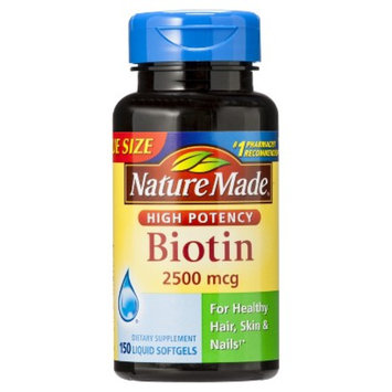 Nature Made High Potency Biotin 2500 mcg Softgels - 150 Count