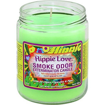 Smoke Odor Exterminator Candle 13oz Jar Candle, Hippie Love [Hippie Love]