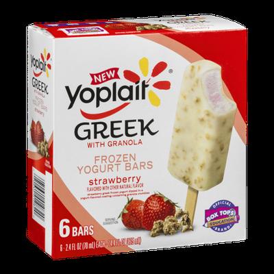 Yoplait® Greek Frozen Yogurt Bars Strawberry with Granola