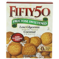 Fifty 50 Fifty-50 Coconut Cookies, 7-Ounce Boxes (Pack of 6)