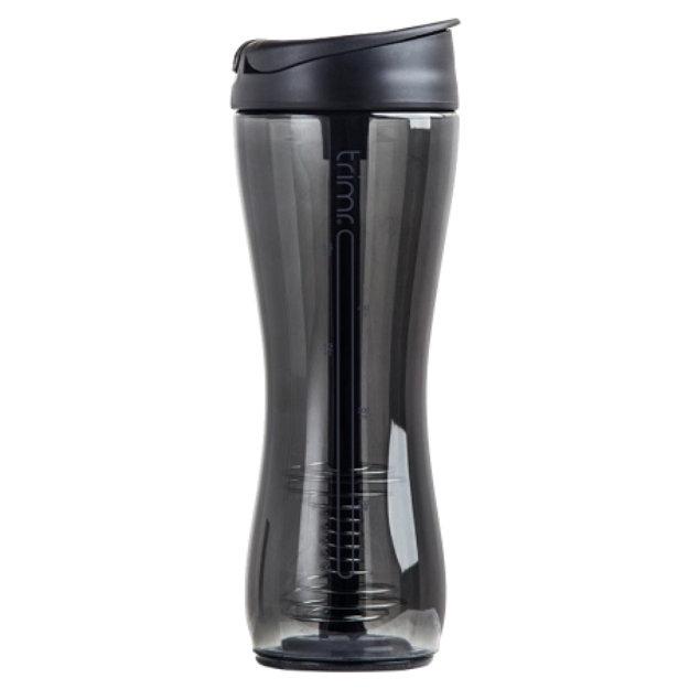 Trimr Protein Shake Bottle, Black, 24 Fl Oz, 1 ea