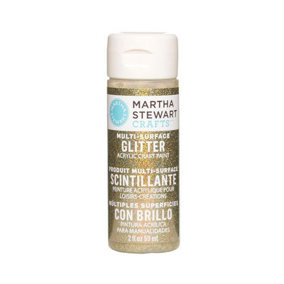 Martha Stewart Glitter Acrylic Craft Paint 2oz-Florentine Gold