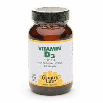 Country Life Vitamin D3 Non-Fish Liver Source
