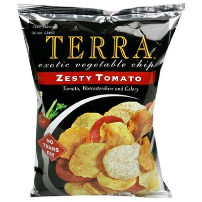 Terra Zesty Tomato Exotic Vegetable Chips, 6.8 Ounce Bags (Pack of 12)