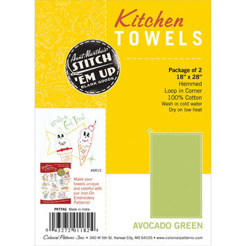 Colonial Patterns, Inc. Hemmed Color Dyed Kitchen Towels 18
