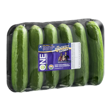 Sunset One Sweet Cucumber Mini-Cucumbers - 6 CT