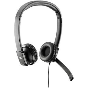 HP QK550AT Headset - Stereo - Wired - Over-the-head - Binaural - Semi-open - Noise Cancelling Microphone - Hewlett Packard