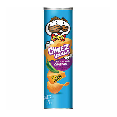 Pringles® Cheez Ummms Mild Jalapeno Cheddar Potato Crisps