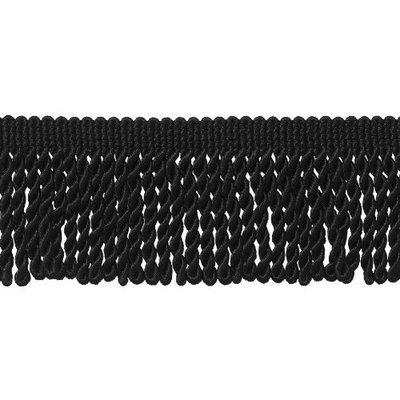 DecoPro Basic Trim Collecion 2.5 Inch Bullion Fringe Trim, Style# EF25 Color: BLACK - K9, Sold By the Yard