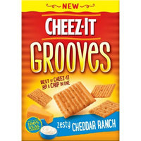 Cheez-It Grooves Zesty Cheddar Ranch Crackers 9 oz