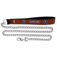 Sierra Accessories Virginia Cavaliers Football Leather 3.5mm Chain Leash - L