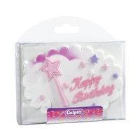 Decopac Happy Birthday Princess Wand Gumpaste Cake Decoration (1 pc)