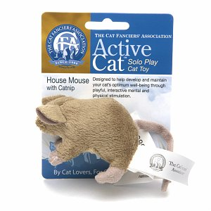 Active Cat Mouse Solo Play Cat Toy with Catnip