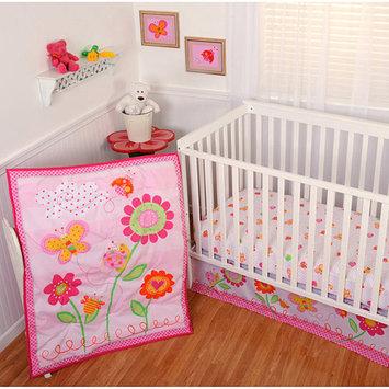 Sumersault - Garden Girl 4pc Crib Bedding Collection - Value Bundle