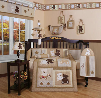 Geenny GEENNY Teddy Bear 13PCS Crib Bedding Set