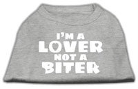 Mirage Pet Products 5142 XXLGY Im a Lover not a Biter Screen Printed Dog Shirt Grey XXL 18