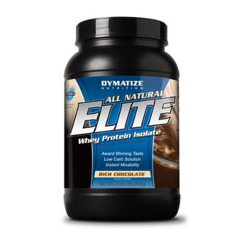 Dymatize Nutrition Dymatize Elite Natural Whey Isolate Protein Rich Chocolate 2lb