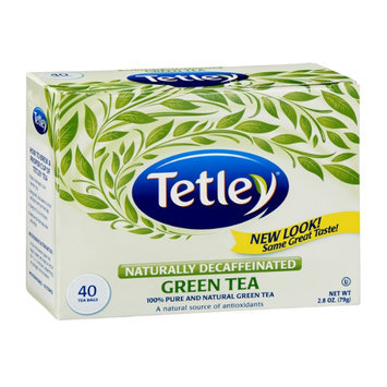 Tetley Naturally Decaffeinated Green Tea Bags - 40 CT